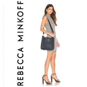 Rebecca Minkoff Large Navy Feed Bag/Crossbody